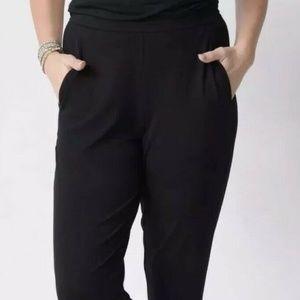 Eileen Fisher Ponte Melange Slim Ankle Pants Black